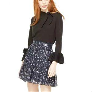 NWT Kate Spade size 10 Night star navy  blue skirt